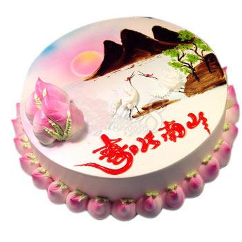 蛋糕:寿比南山