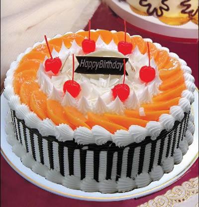 生日蛋糕-红红火火