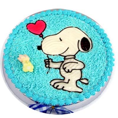 蛋糕:快乐小狗